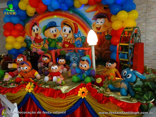 Mesa temática Turma da Mônica - Decoração de festa de aniversário