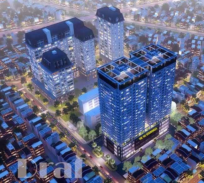 Phối cảnh dự án chung cư 102 trường chinh kinh đô