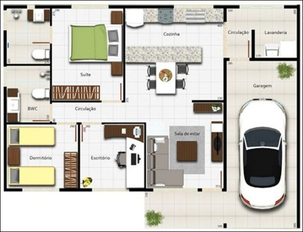 casa simples garagem