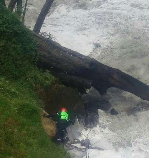 En Soacha organismos de socorro continúan la búsqueda de joven que cayó al río Bogotá