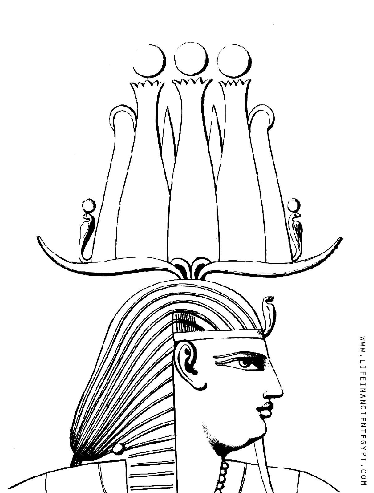 Free Printable Ancient Egypt Coloring Page Pharaoh
