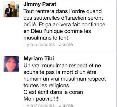 Commentaire Facebook que Jimmy Parat nie avoir écrit