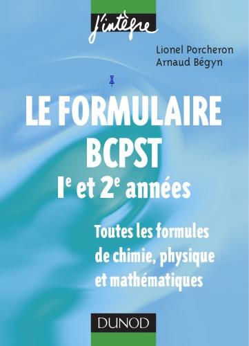 Livre Le formulaire BCPST 1er et 2eme années