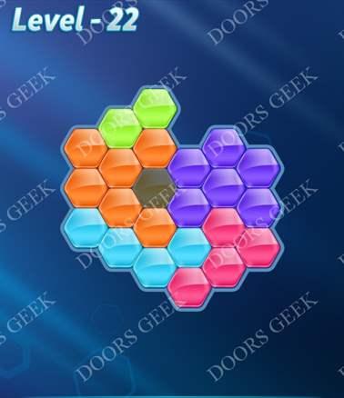 Block! Hexa Puzzle [6 Mania] Level 22 Solution, Cheats, Walkthrough for android, iphone, ipad, ipod
