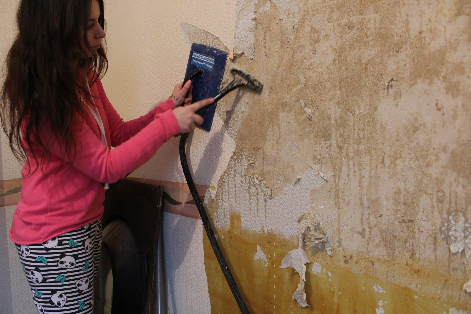 Tips For Easy Wallpaper Removal Kezzabeth Diy Renovation Blog