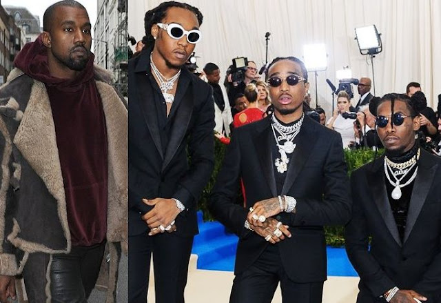 Kanye West and Migos Spotted  In LA Studio