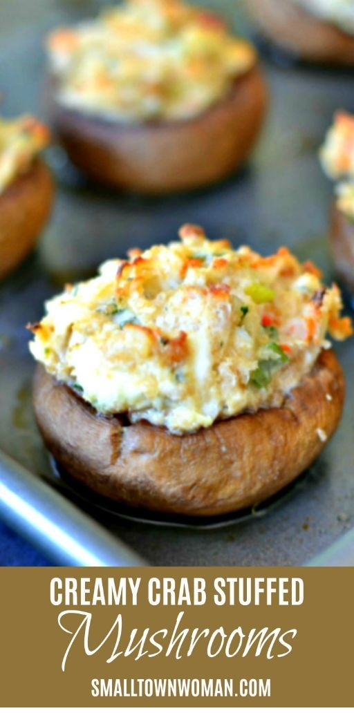 Quick And Creamy Crab Stuffed Mushrooms