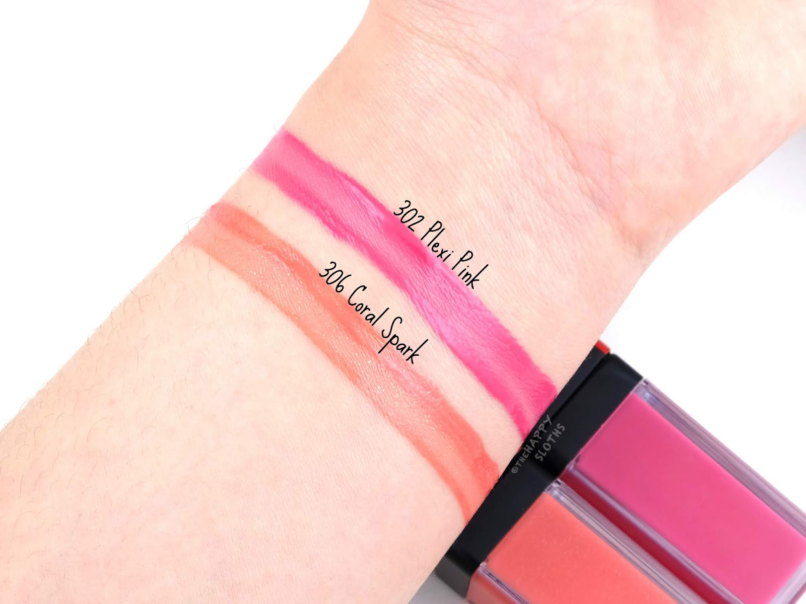"Shiseido | LacquerInk LipShine in ""302 Plexi Pink"" & ""306 Coral Spark"": Review and Swatches"