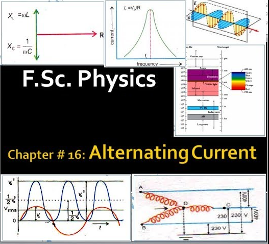 Chapter # 16: (F Sc  Physics 2nd Year) Alternating Current