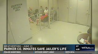 Video Captures Texas Inmates Breaking Out of Cell to Help Jailer Suffering Apparent Heart Attack