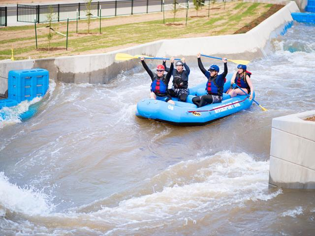 White water rafting in downtown Oklahoma City