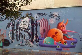 Sunday Street Art : KRSN ist Krieg et NB.JPR alias JSPZ- rue Henri Noguères - Paris 19