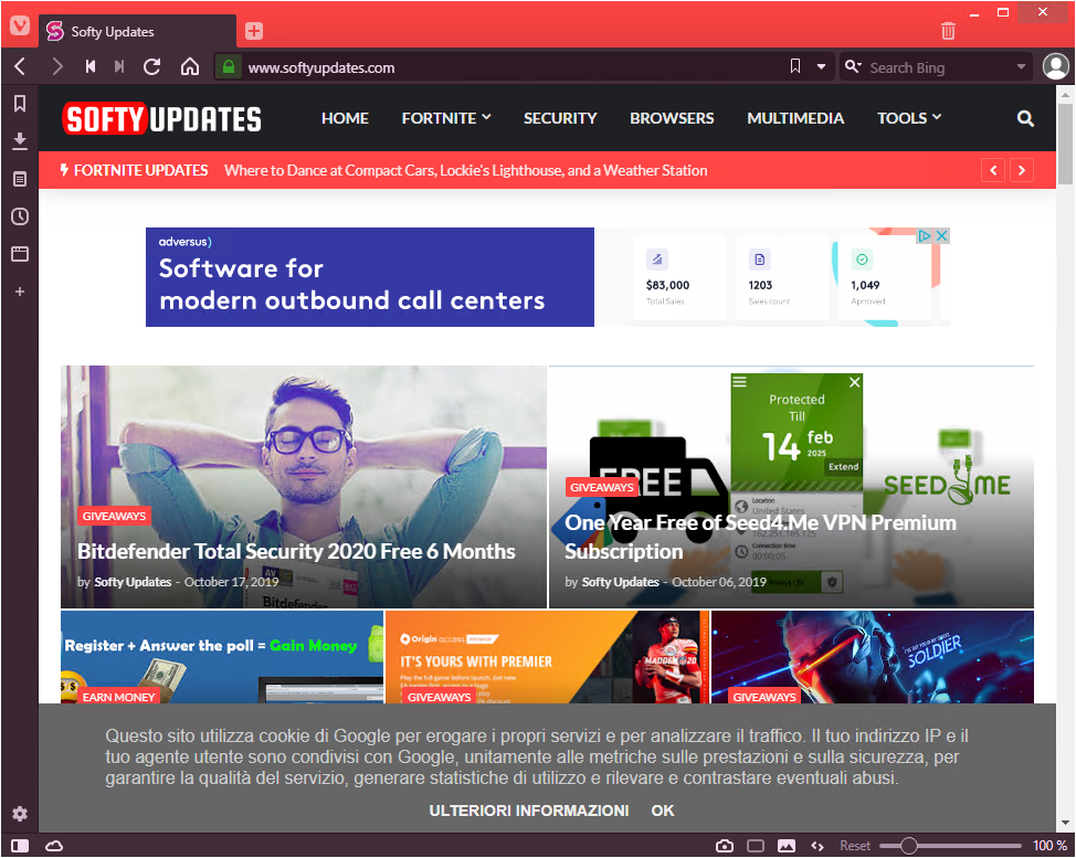 Vivaldi Web Browser 2.10.1745.27
