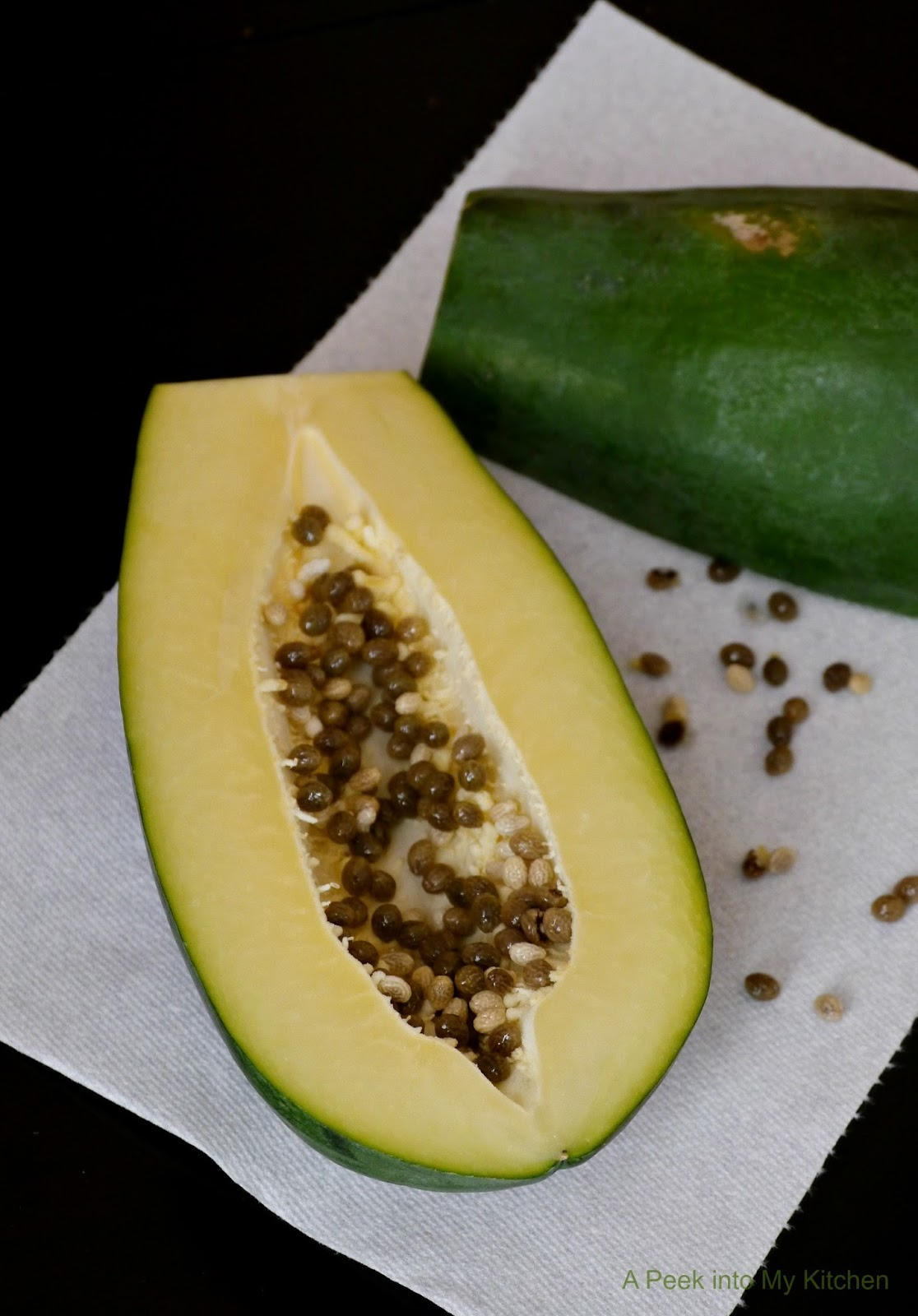 Peek into My Kitchen: Raw (Green) Papaya Dry Curry ~ Day 71