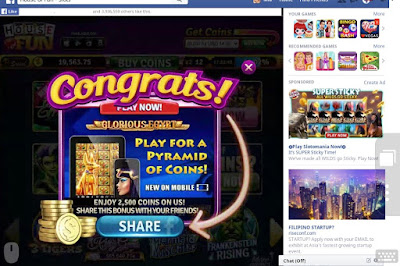 House of Fun Collect Free Coins on Mobile