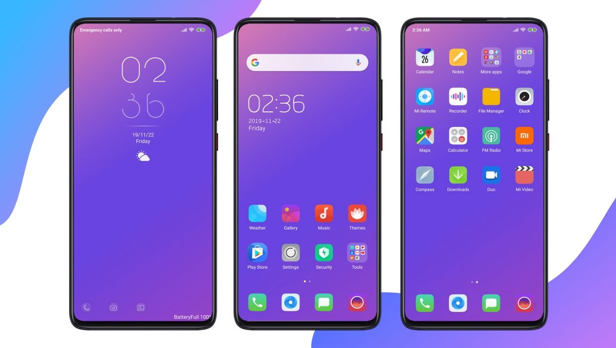 FinX MIUI Theme | Best Gradient Theme for MIUI 11 and MIUI 10