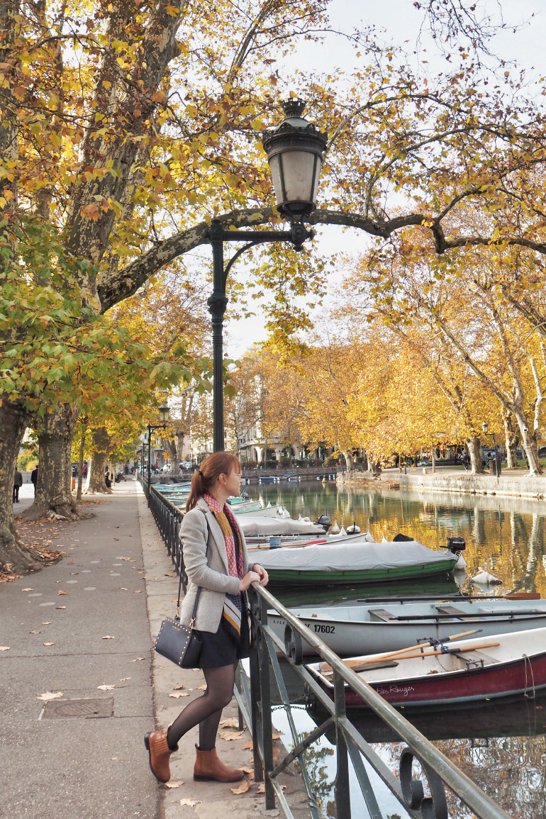 Visite de la ville d'Annecy en automne