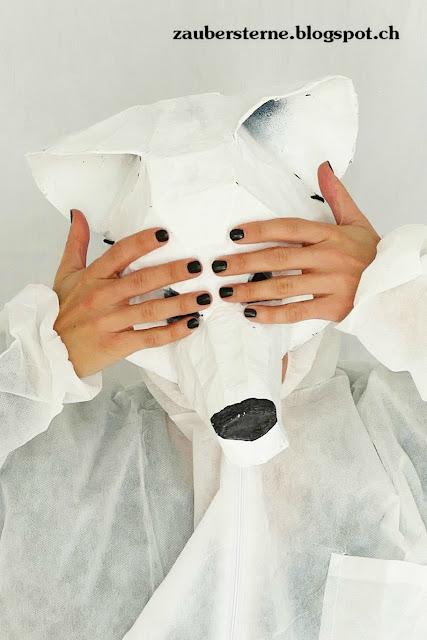 Maske, Faschingsmaske, DIY Maske, Maske kleistern