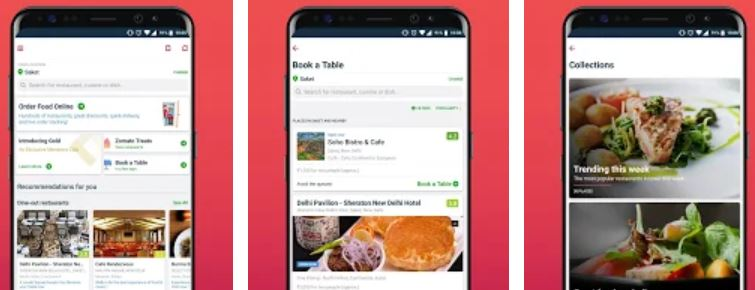 Zomato - best taverl app in India for food