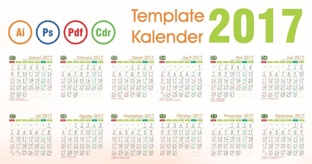 Template kalender 2017 undangan, kalender dinding 2017