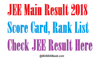 JEE Main Result 2018, Score Card, Rank List – Check JEE Result Here
