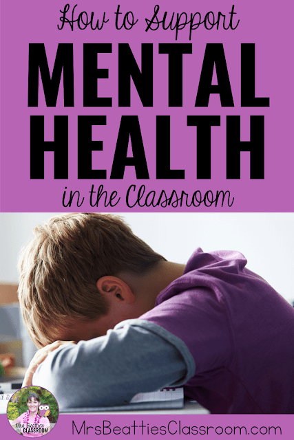 "Sad child with text, ""How to Support Mental Health in the Classroom."""