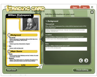 Trading Card Creator Tool To Use With Students In Class