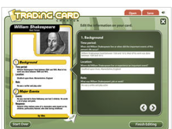 Here Is A Good Tool Students Can Use to Create Trading Cards in Class