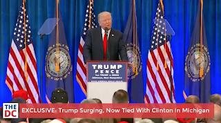 Trump Surging Ahead Of Clinton In Michigan