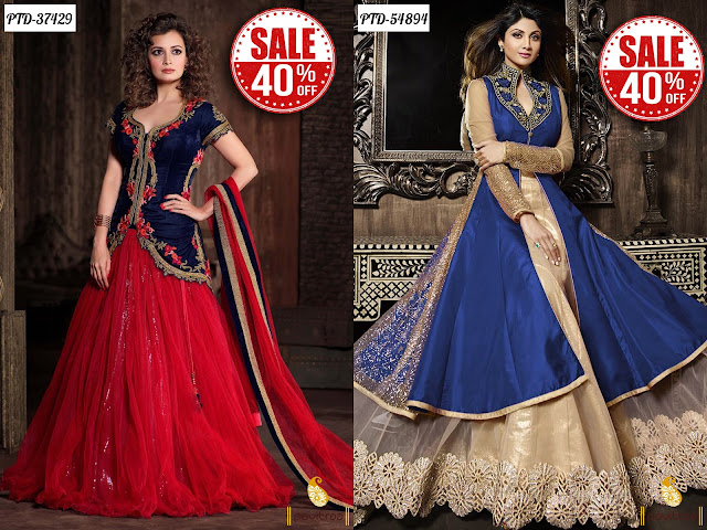Women's day special bollywood dresses sale online