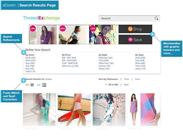 Site search results page