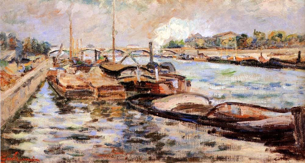 O Sena - Armand Guillaumin ~ Pintor Impressionista com cores intensas