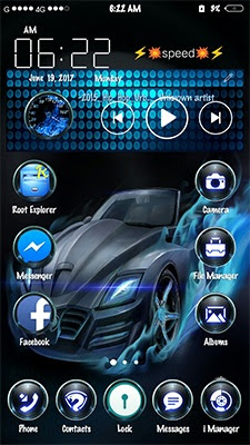 Blue Speed  Theme itz For Vivo