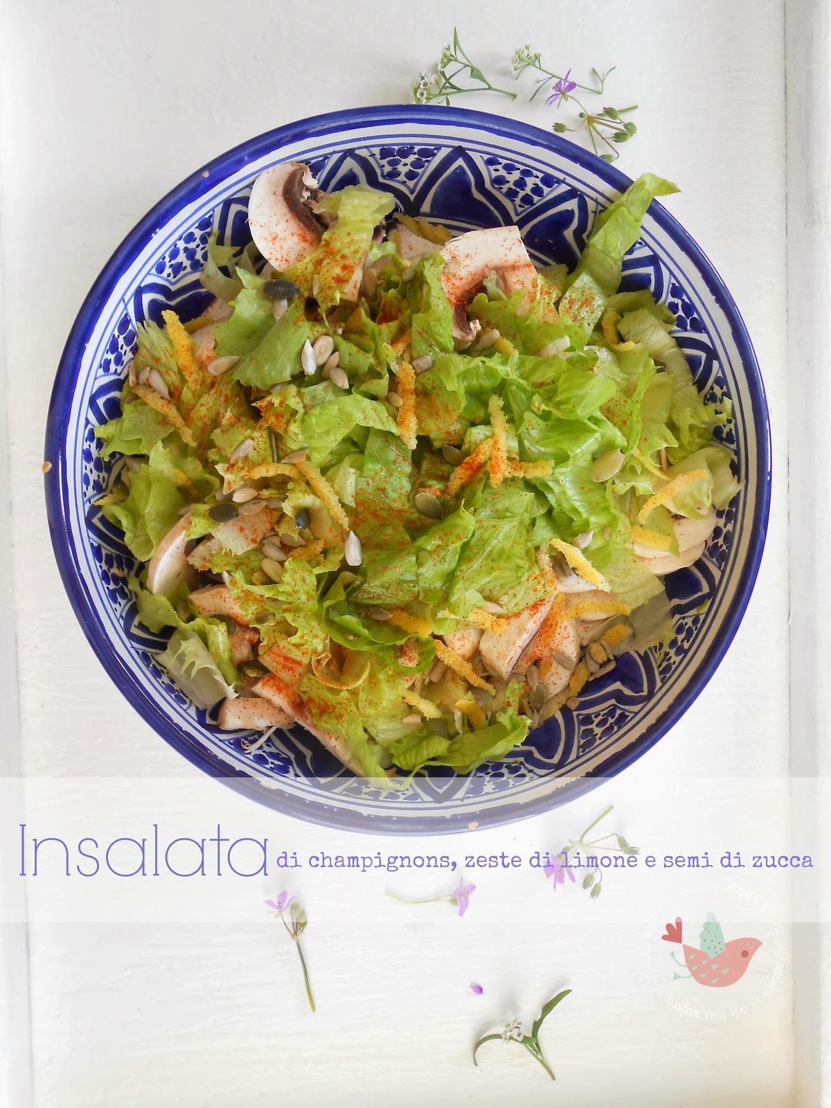 L'insalata che preferisco in questi giorni di primavera in cui anche la natura si sta lentamente risvegliando.