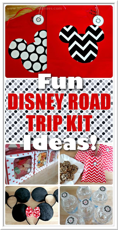 Fun ideas for making your own Disney Road Trip Kits | 3 Garnets & 2 Sapphires