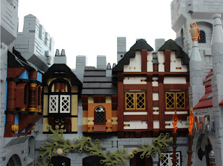 Woodstock Castle Lego MOC Overhanging Timbered Buildings