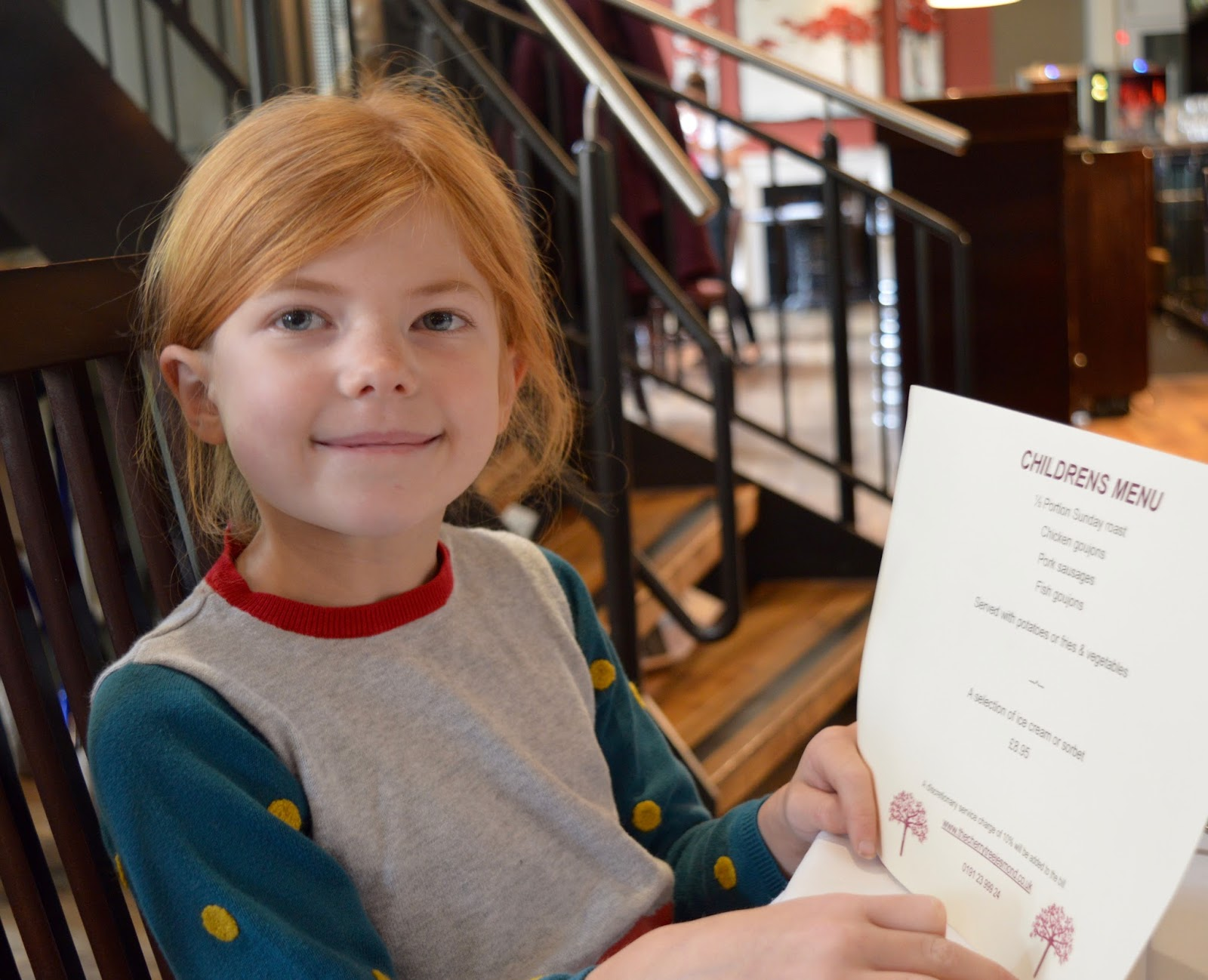 Family Sunday Lunch at The Cherry Tree Restaurant, Jesmond | A Review  - children's menu