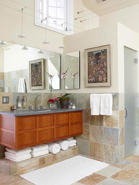 พื้นห้องน้ำ Transitional bathroom