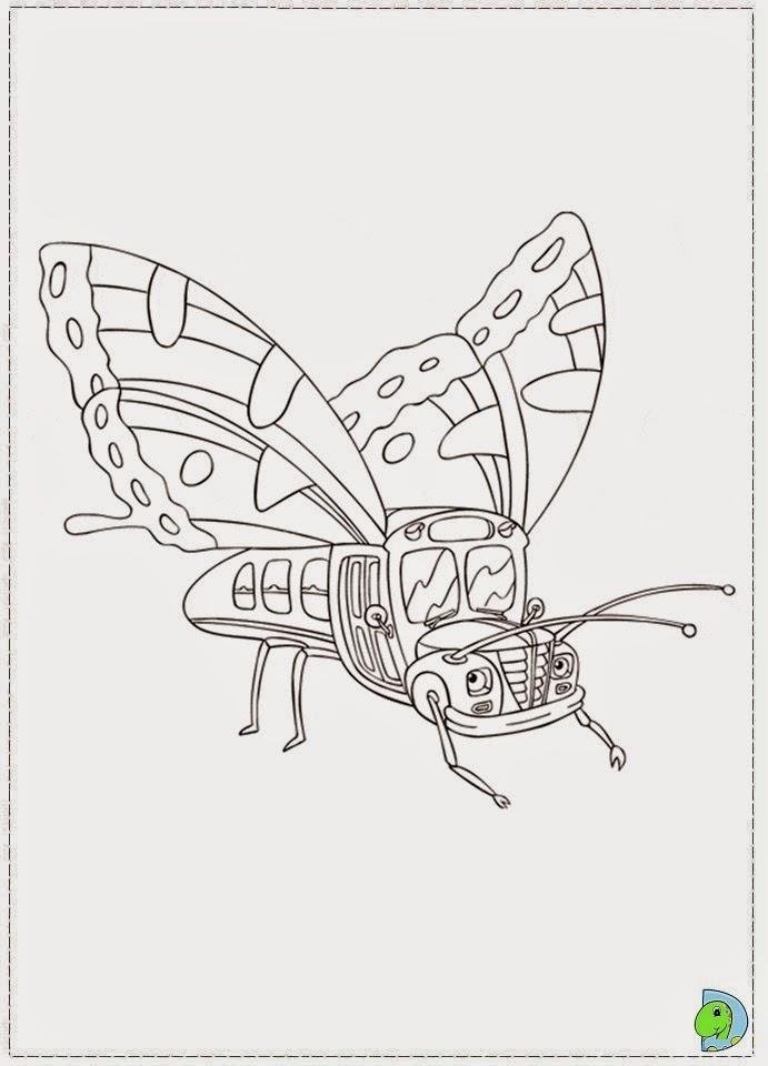 Dinokids desenhos para colorir desenhos de a carrinha for Magic school bus coloring page