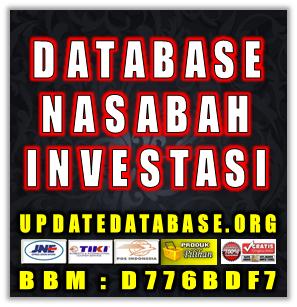 Jual Database Nasabah Investasi