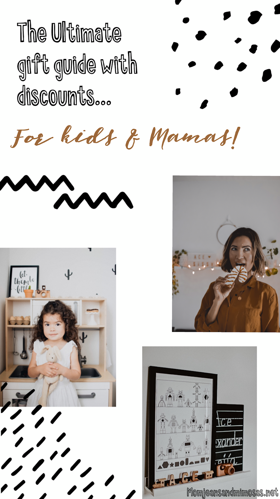 The Ultimate Gift Guide with discount codes // for Mamas and kids