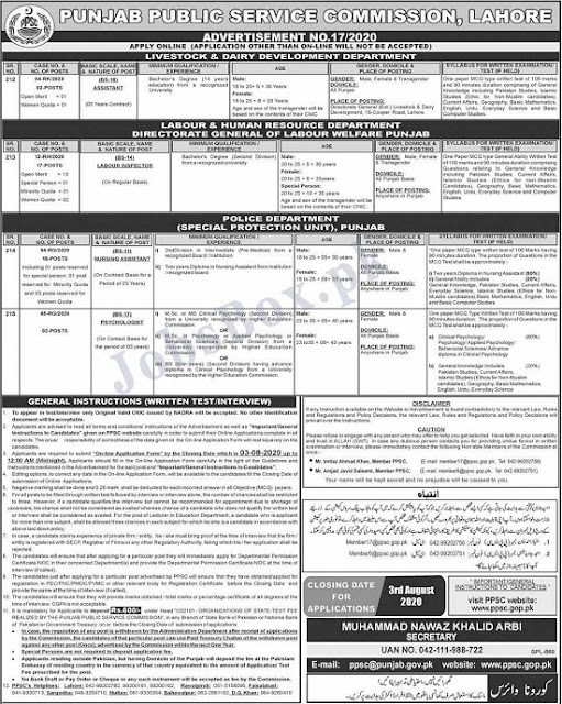 special-protection-unit-spu-punjab-police-jobs-ppsc-advertisement-no-17