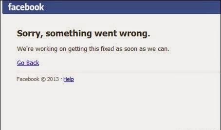 facebook bị lỗi