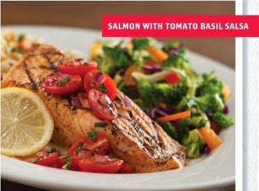 Salmon With Tomato Basil Salsa, T.G.I Friday's New Menu Review, Food review, T.G.I Friday's, New Menu, American Food