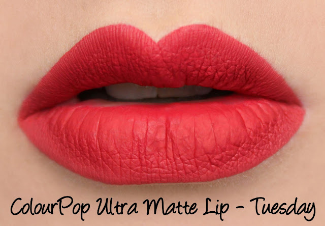 ColourPop Ultra Matte Lip - Tuesday Swatches & Review