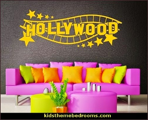 Hollywood Lounge - wall decal, sticker, murals - variety of sizes and color choices
