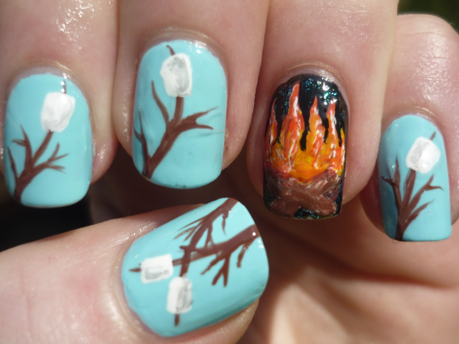 Camping Nails | Juliatmll Nail Art