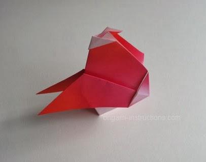 Origami Horoz Yapımı
