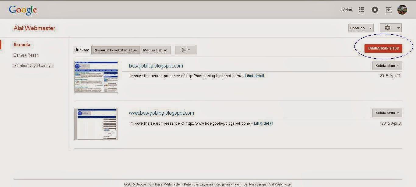 cara agar postingan cepat terindeks google