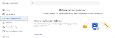 click on Data & personalization